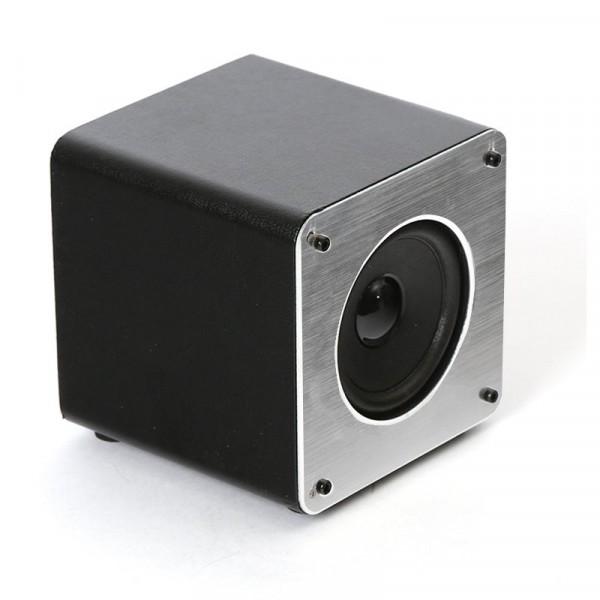 Altavoz Música Universal Bluetooth Marca Omega Cuadrado Plata