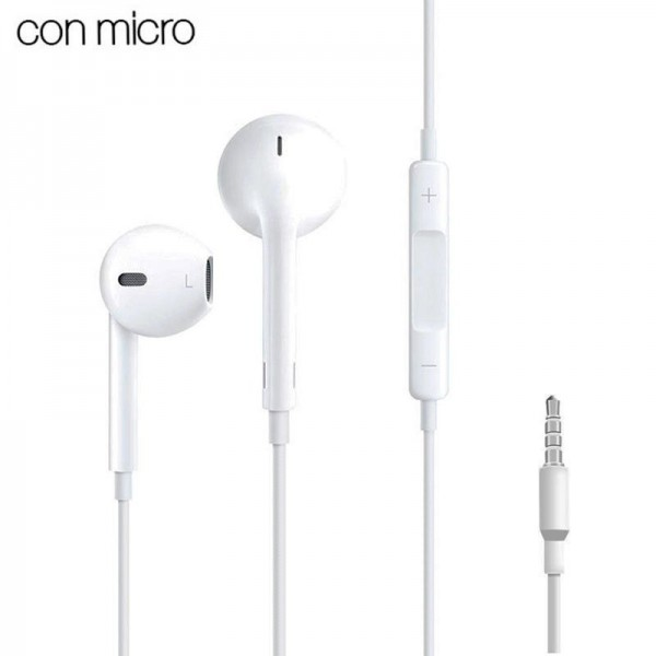 Auriculares 3,5 mm COOL Box Stereo Con Micro Blanc...