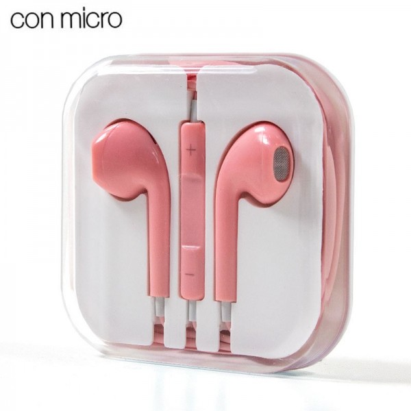 Auriculares 3,5 mm COOL Box Stereo Con Micro Rosa