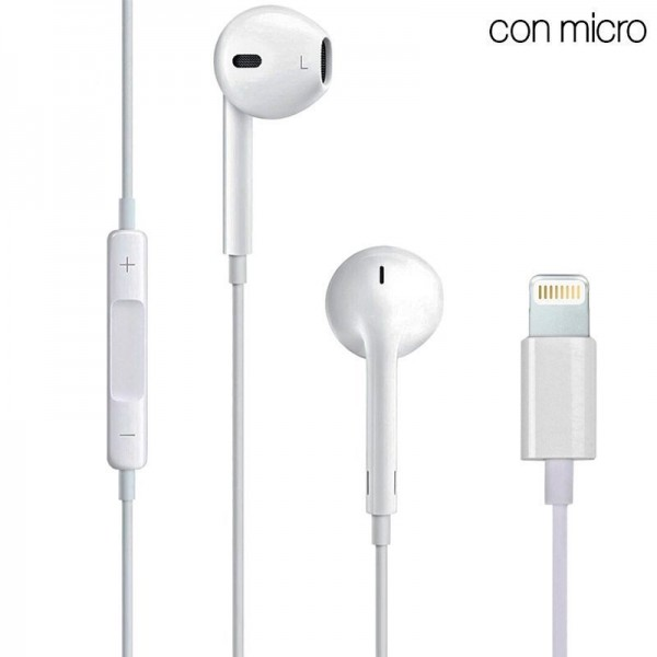 Auriculares Blancos Stereo Con Micro iPHONE 7 / 8 ...