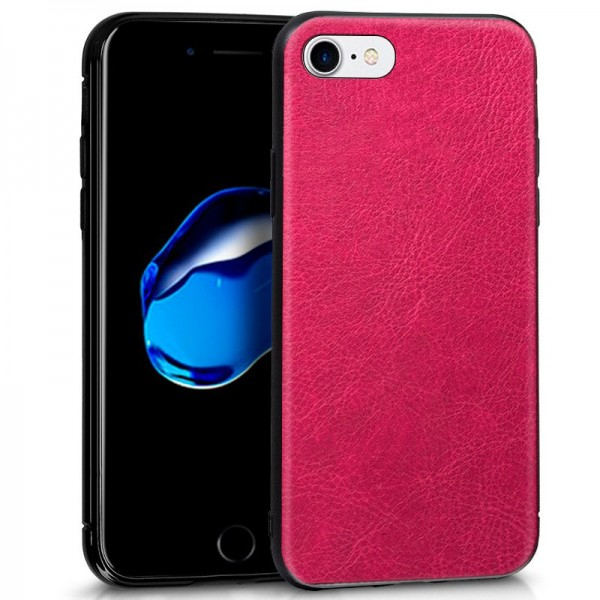 Carcasa Leather Piel Rosa iPhone 7 / iPhone 8
