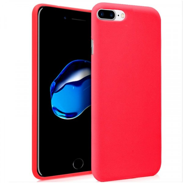 Funda Silicona IPhone 7 Plus / IPhone 8 Plus (Rojo...