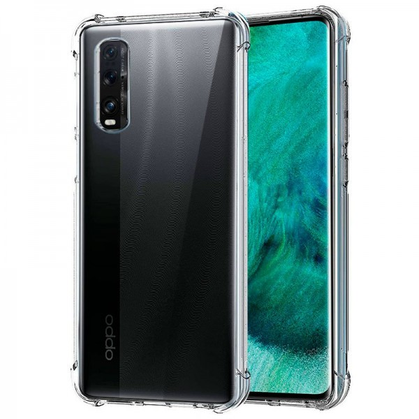 Carcasa COOL para Oppo Find X2 AntiShock Transpare...