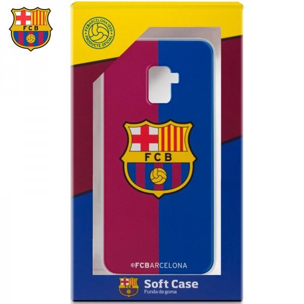 Carcasa  Galaxy A8 (2018) Licencia Fútbol F.C. Ba...