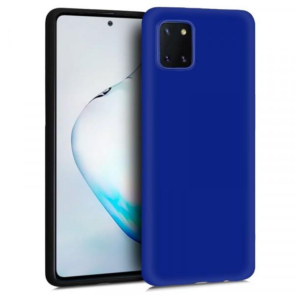 Funda Silicona Azul Samsung Galaxy Note 10 Lite