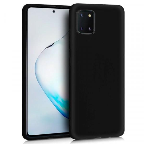 Funda Silicona Negra Samsung Galaxy Note 10 Lite