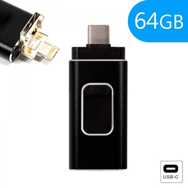 Pen Drive x 64 GB USB 2.0 iPhone / iPad COOL OTG T...