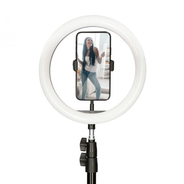Anillo LED con trípode para móvil STUDIO LIVE MA...