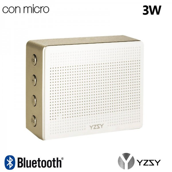 Altavoz Bluetooth Rectangular Metal YZSY Minti Gol...