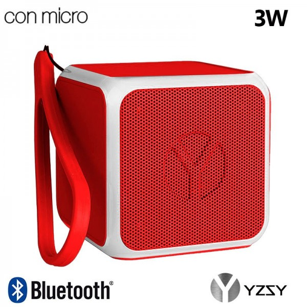 Altavoz Bluetooth Cubo Música Universal YZSY Flashy Red (3W)