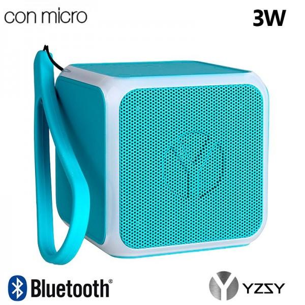 Altavoz Bluetooth Cubo Música Universal YZSY Flas...