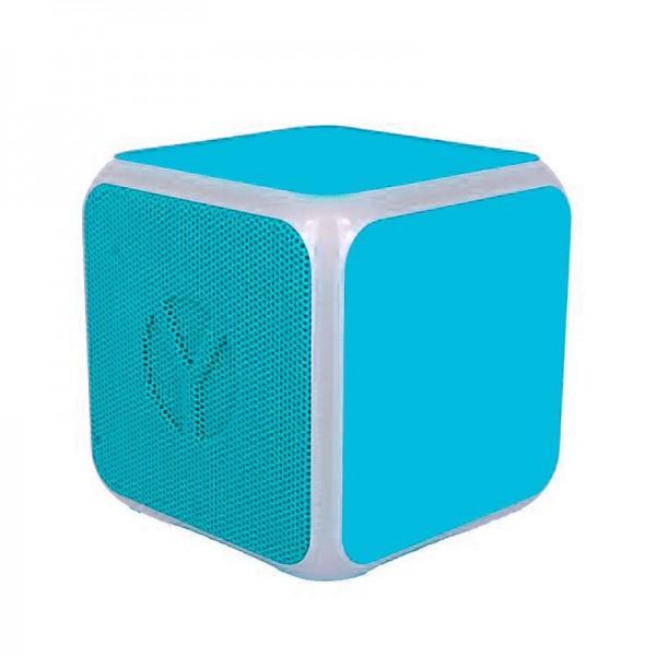 Altavoz Bluetooth Cubo Música Universal YZSY Flashy Blue (3W)