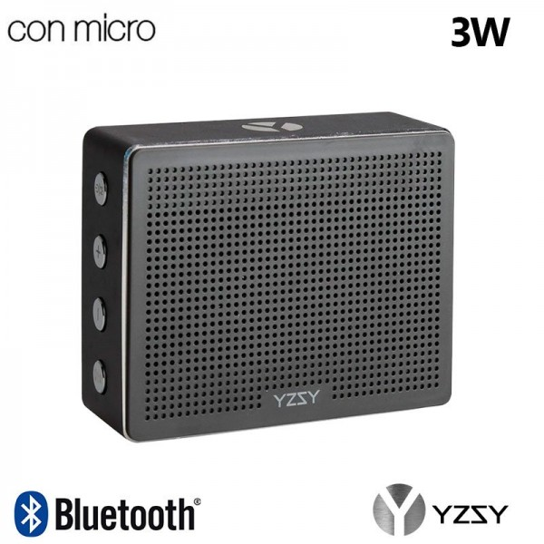 Altavoz Bluetooth Rectangular Metal YZSY Minti Bla...