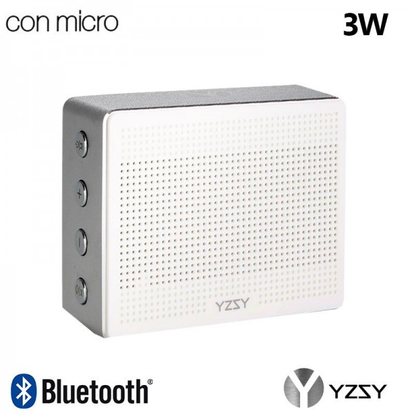 Altavoz Bluetooth Rectangular Metal YZSY Minti Sil...