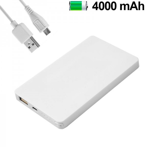 Bateria Externa Micro-usb Power Bank 4000 mAh Colo...