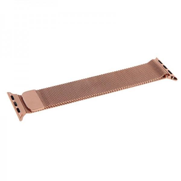 Correa COOL para Apple Watch Series 1 / 2 / 3 / 4 / 5 / 6 / 7 / SE (38 / 40 mm) Metal Rose Gold