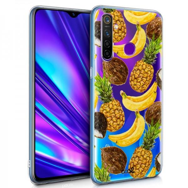 Carcasa COOL para Realme 5 Pro Clear Fruit
