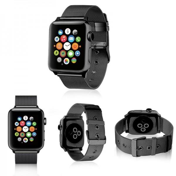 Correa COOL para Apple Watch Series 1 / 2 / 3 / 4 / 5 / 6 / 7 / SE (38 / 40 mm) Metal Negro