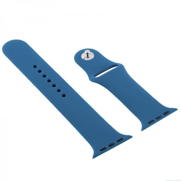 Correa COOL para Apple Watch Series 1 / 2 / 3 / 4 / 5 / 6 / 7 / SE (42 / 44 mm) Goma Azul