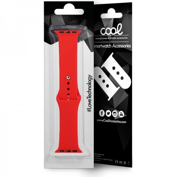 Correa COOL para Apple Watch Series 1 / 2 / 3 / 4 / 5 / 6 / 7 / SE (42 / 44 mm) Goma Rojo