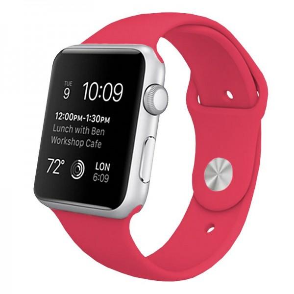 Correa COOL para Apple Watch Series 1 / 2 / 3 / 4 / 5 / 6 / 7 / SE (38 / 40 mm) Goma Rosa