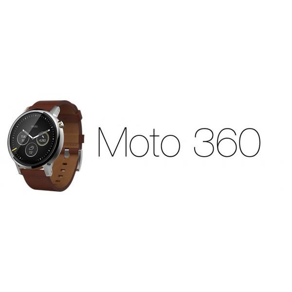 MOTOROLA MOTO 360 (2ªgen) 46mm inox / PIEL